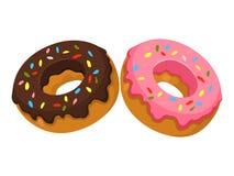 Donuts Vectorillustratie van Donuts stock illustratie