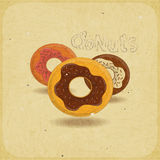 Donuts on vintage background Stock Image