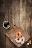 Donuts voor lunch. Royalty-vrije Stock Afbeeldingen