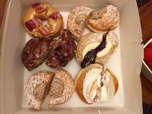 Donuts. This was taken late afternoon when friends were over royalty free stock images