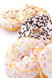 Donuts on white background. Royalty Free Stock Image