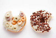 Donuts on the white background Stock Images