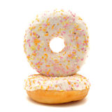 Donuts on white background Royalty Free Stock Photography