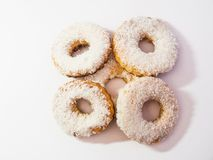 Donuts on white background. stock photography