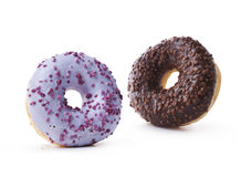 Donuts on a white background Stock Photos