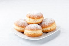 Donuts. On white plate Stock Photography