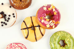 Donuts on white Royalty Free Stock Photos
