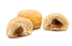 donuts wypełniający zdjęcia stock