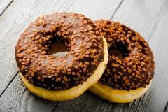 Donuts z czekoladą Obraz Royalty Free