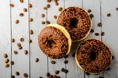 Donuts z czekoladą Obraz Stock