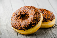 Donuts z czekoladą Zdjęcie Royalty Free