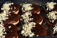 Donuts z czekoladowym glazerunkiem Obraz Stock