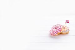 Donuts z flaga Norwegia Fotografia Stock