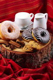 Donuts zebra and sugary donuts Stock Image