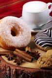 Donuts zebra and sugary donuts Royalty Free Stock Photos