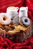 Donuts zebra and sugary donuts Royalty Free Stock Photo