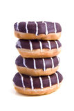 Donutstripes. Donuts with stripes on a white background Stock Photo