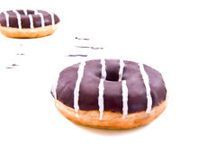 Donutstripes. Donuts with stripes on a white background Royalty Free Stock Photo