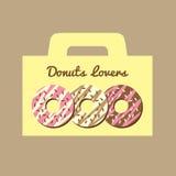 Donutsvänask vektor illustrationer