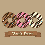 Donutsvänner stock illustrationer