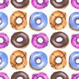 Donutsvattenfärgmodell vektor illustrationer