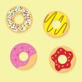 Donutsvektorillustration Munksymbolsmat Royaltyfri Bild