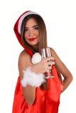 A donzela comemora o ano novo Imagens de Stock Royalty Free