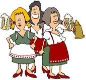 Donzelas da cerveja de Oktoberfest Foto de Stock Royalty Free