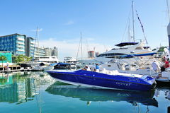 Donzi power boat at Singapore Yacht Show Stock Photography
