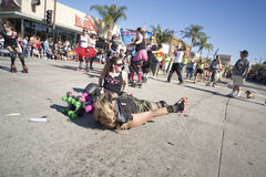 Doo Dah Parade Derby Dolls Royalty Free Stock Photography