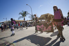 Doo Dah Parade Derby Dolls Royalty Free Stock Photography