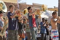 Doo Dah Parade High School Marching Band Royalty Free Stock Photos