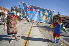 Doo Dah Parade Parrot Heads Stock Image