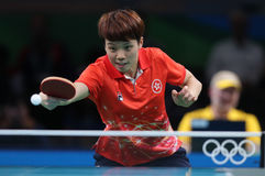 DOO Hoim Kei at the Olympic Games in Rio 2016. DOO Hoim Kei playing table tennis  at the Olympic Games in Rio 2016 Stock Image