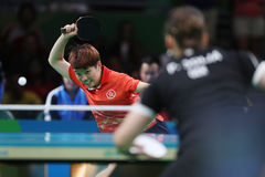 DOO Hoim Kei at the Olympic Games in Rio 2016. DOO Hoim Kei playing table tennis  at the Olympic Games in Rio 2016 Royalty Free Stock Photo