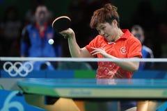 DOO Hoim Kei at the Olympic Games in Rio 2016. DOO Hoim Kei playing table tennis  at the Olympic Games in Rio 2016 Royalty Free Stock Photos