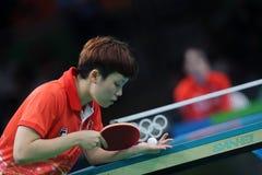 DOO Hoim Kei at the Olympic Games in Rio 2016. DOO Hoim Kei playing table tennis  at the Olympic Games in Rio 2016 Stock Photos