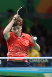 DOO Hoim Kei at the Olympic Games in Rio 2016. DOO Hoim Kei playing table tennis  at the Olympic Games in Rio 2016 Stock Photography