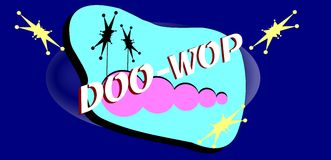 Doo wop background banner Stock Photography