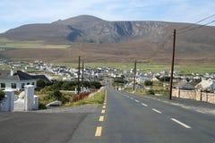 Dooagh Village. Achill Island, County mayo, Ireland. With Mount Croaghaun in the background Stock Photos