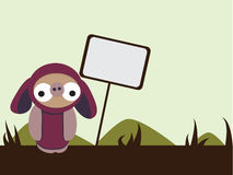 Doobiez com assina dentro a paisagem ilustração stock