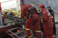 27 dood in de nachtclubbrand van Boekarest Colectiv Royalty-vrije Stock Foto