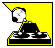 Dood DJ Royalty-vrije Stock Afbeeldingen