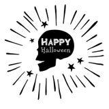 Dood, dode schedel, skelet, Halloween, illustratie, beeldverhaal, verschrikking vector illustratie
