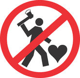 Dood geen liefde Royalty-vrije Stock Foto