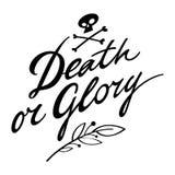 Dood of Glorie stock illustratie