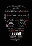 Dood Infographics Stock Afbeeldingen