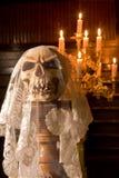 Dood met een bruidssluier Royalty-vrije Stock Foto's