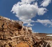 Dood overzees zout in Jordanië Stock Afbeelding