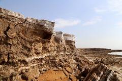 Dood overzees zout in Jordanië Royalty-vrije Stock Afbeelding